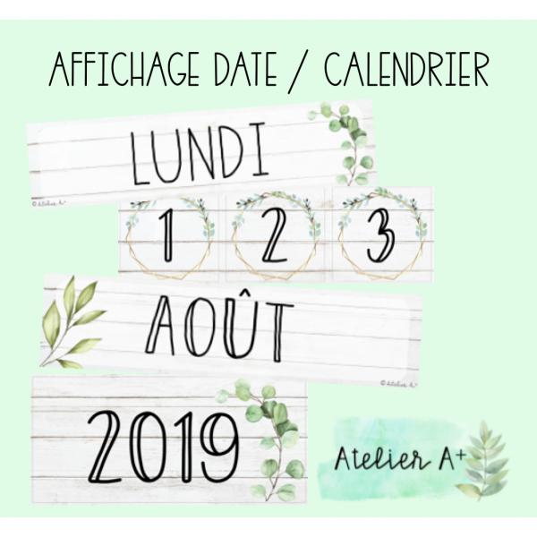 Affichage calendrier/date épuré