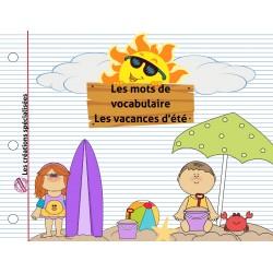 Les mots de vocabulaire : Les vacances d'été!
