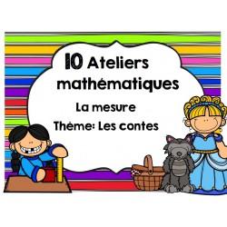 10 ateliers math: La mesure Les contes