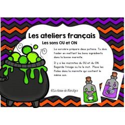 Atelier français les sons OU et ON dans la marmite