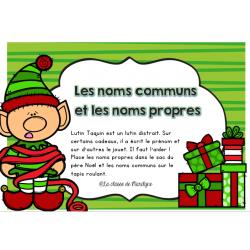 Atelier Noël: les noms propres et les noms communs