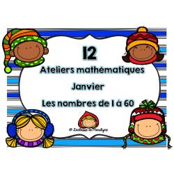 12 Ateliers mathématiques janvier nbr: 1 à 60