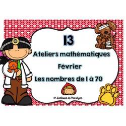 13 ateliers mathématiques février les nbr 1 à 70