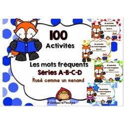100 activités Les mots fréquents