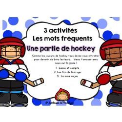 3 activités/jeux Mots fréquents Partie de hockey