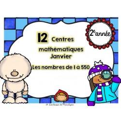 12 centres mathématiques Janvier