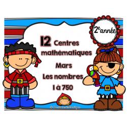 12 centres mathématiques les nbrs 1 à 750