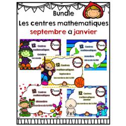 Bundle ateliers math septembre à Janvier