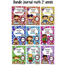 Bundle Journal math 2e année sept à mai