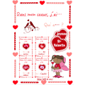 St-Valentin, mots étiquettes + jeu de vocabulaire