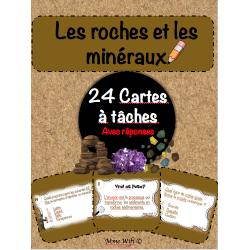 Roches et minéraux - cartes à tâches.