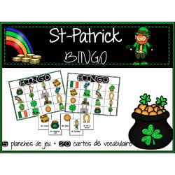 BINGO de vocabulaire pour la St-Patrick