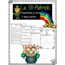 St-Patrick compréhension de lecture + écriture