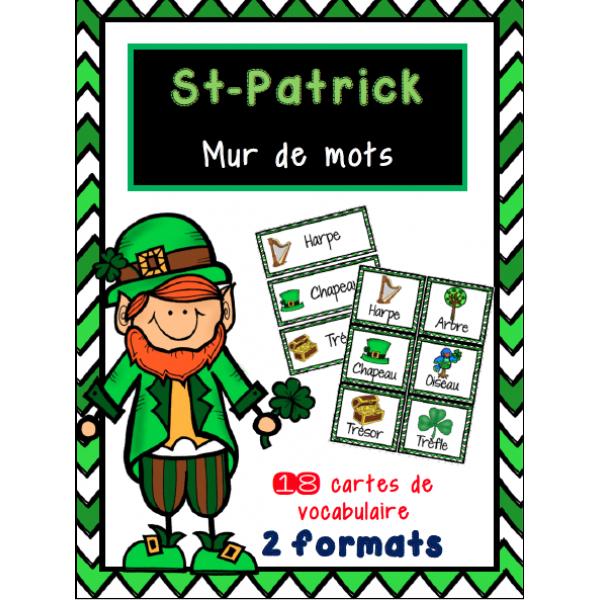 St-Patrick - mur de mots