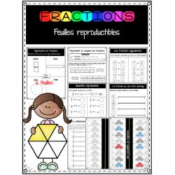 Représenter et comparer les fractions IMPRIMABLES