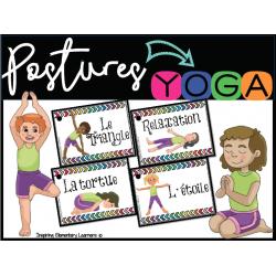 Postures de YOGA - 19 cartes
