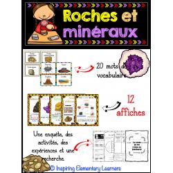 Ensemble roches et minéraux & cartes à tâches