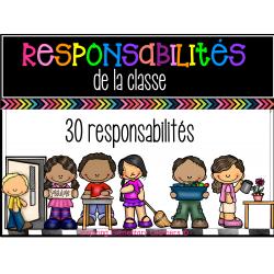 30 tâches et responsabilités de la classe