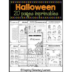 Halloween - activités imprimables  2-3e année