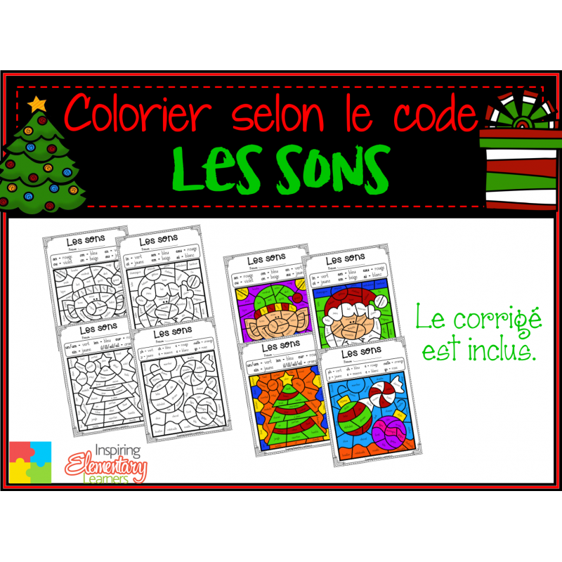 Coloriage Magique Les Sons Noël