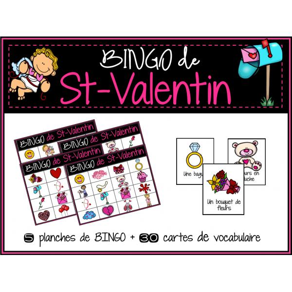 BINGO de vocabulaire St-Valentin