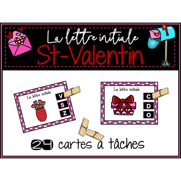 Cartes à tâches ST-VALENTIN