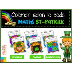 Coloriage magique St-Patrick MATHS