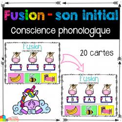 Fusion - conscience phonologique ATELIER mat-1ère