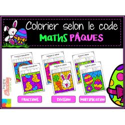 Coloriage magique MATHS Pâques