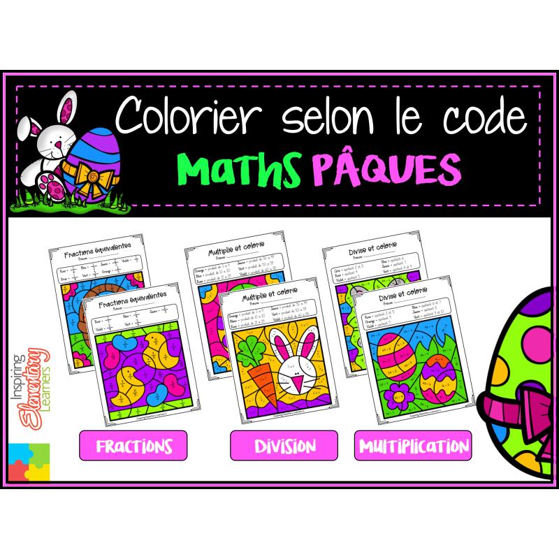 Coloriage Magique Maths Paques