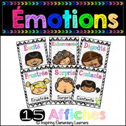 Les émotions - 15 affiches