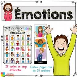 BINGO des émotions 3-6e