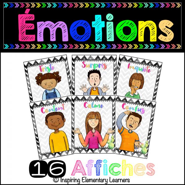 Les émotions - *** affiches 3-6e ***