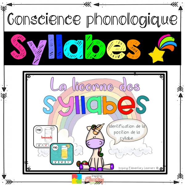 Licorne - identifier la position des syllabes