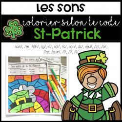 Coloriage magique St-Patrick - Conscience Phono.