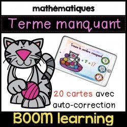 BOOM LEARNING - le terme manquant ADDITION