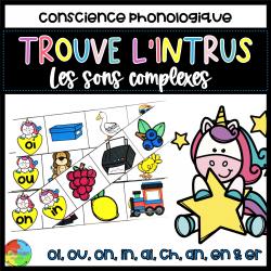 Trouve l'intrus|CONSCIENCE PHONO|Sons Complexes