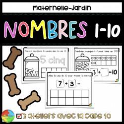 Case de 10 - les nombres maternelle / jardin