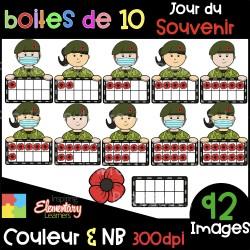 Jour du Souvenir - boites de 10 - CLIP ART