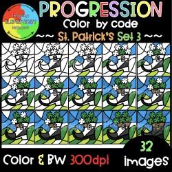 St.Patrick's Progression ❤️Color by Code❤️SET3