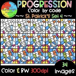 St.Patrick's Progression ❤️Color by Code❤️SET4