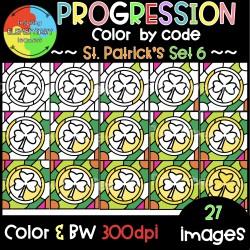 St.Patrick's Progression ❤️Color by Code❤️SET6
