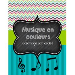 Musique en couleurs - Coloriage par codes