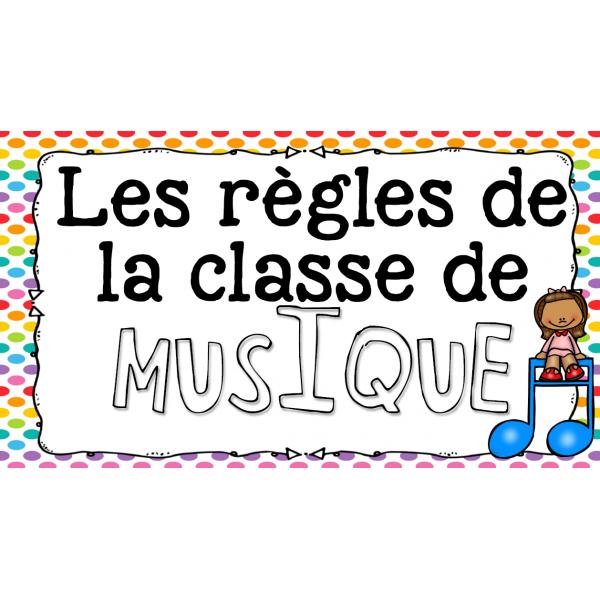 Règles de la classe de musique