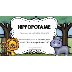 Hippopotame - Intensité fort/doux