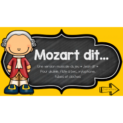 Mozart dit - Pratique instrumentale