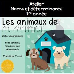 Les animaux de M.Zanimot - grammaire - 1er cycle