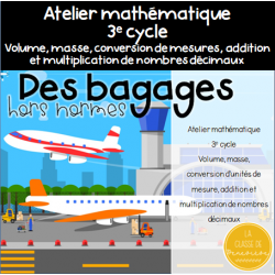 Bagages hors normes - 3e cycle - Volume masse