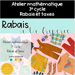 Rabais à la friperie - 3e cycle - Rabais et taxes