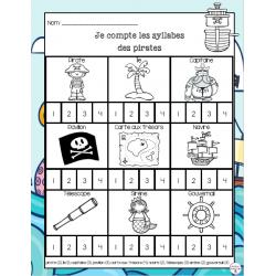 Je compte les syllabes - Pirates